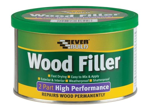 Everbuild 2 Part High performance Wood Filler 500g. Teak